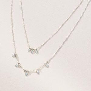 Stella &Dot delicate petal versatile necklace